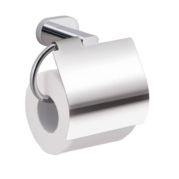 Chrome Wall Mounted Toilet Paper Holder with Cover