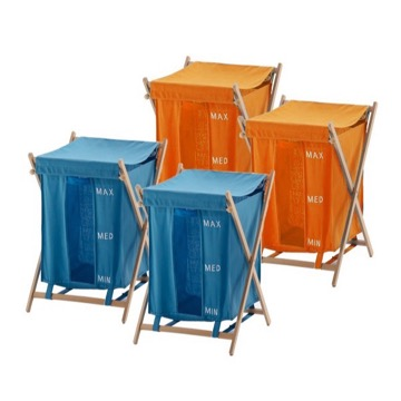 Orange and Blue Laundry Baskets
