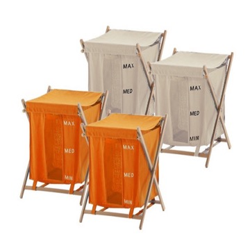Orange and Beige Laundry Baskets