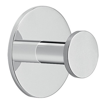 Adhesive Mounted Polished Chrome Aluminum Bathroom Hook
