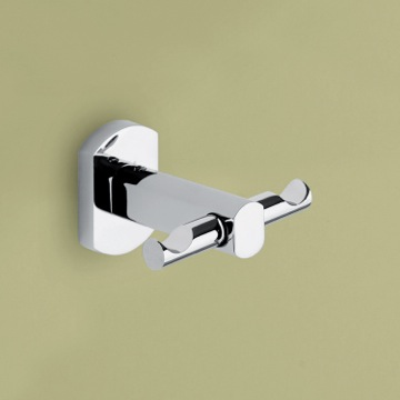 Bathroom Hook Polished Chrome Double Hook ED26-13 Gedy ED26-13