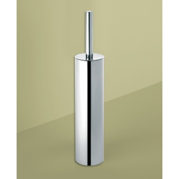 Round Polished Chrome Toilet Brush Holder