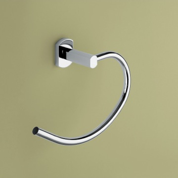 Polished Chrome Curved Towel Ring