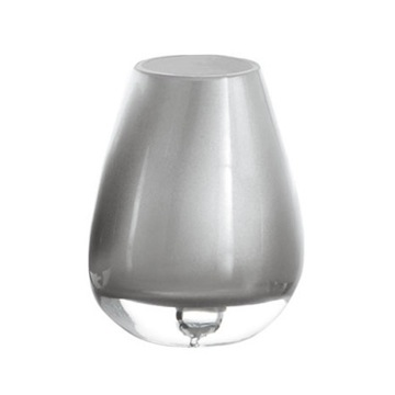 Round Glass Tumbler in Silver Finish