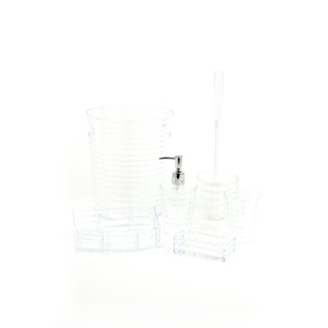 Transparent 6 Piece Bathroom Accessory Set