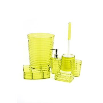 Avocado Green 6 Piece Bathroom Accessory Set