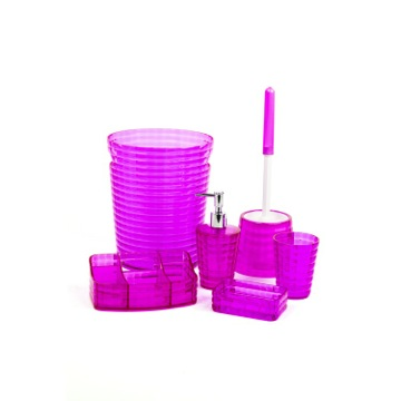 Pink 6 Piece Bathroom Accessory Set