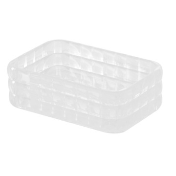 White Thermoplastic Resin Soap Dish
