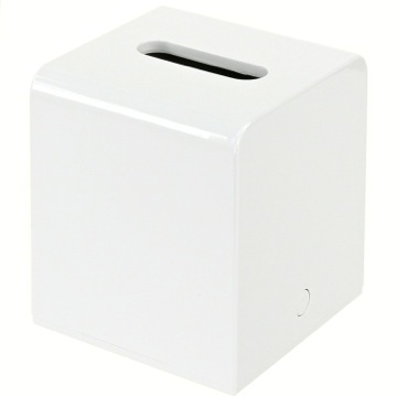 Tissue Box Cover, Contemporary, White, Thermoplastic Resins, Gedy Kyoto, Gedy 2001-02