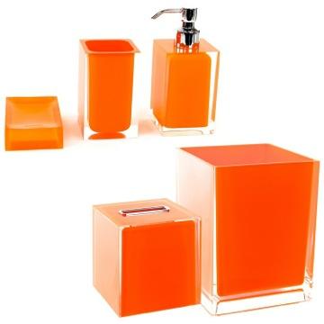 Gedy ra2011 67 bathroom accessory set rainbow nameek 39 s for Orange bathroom accessories set