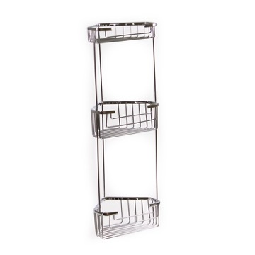 Wire Corner Triple Shower Basket 2484