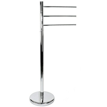 Free Standing Chrome Towel Stand