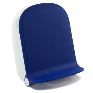 Blue Round Waste Bin With Pedal