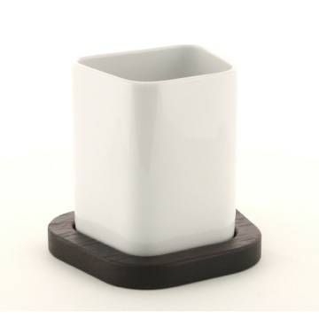 Free Standing Tooth Brush Holder with Wenge Base
