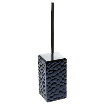 Free Standing Pottery Toilet Brush in Blue Finish
