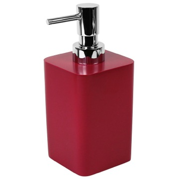 Square Ruby Red Soap Dispenser