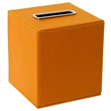 Tissue Box Cover, Contemporary, Orange, Faux Leather, Gedy Alianto Colour, Gedy AC02-67