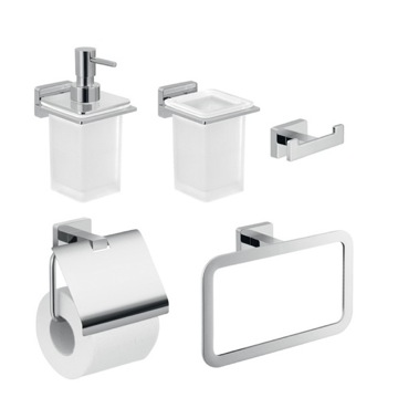 5 Piece Wall Hung Bathroom Accessory Set