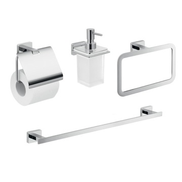 Wall Mounted Bathroom Accessory Set