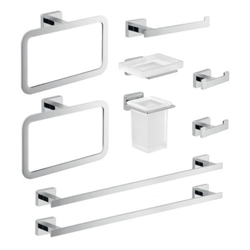 Nine Piece Chrome Accessory Set