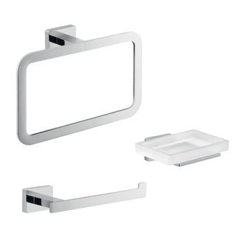 Complete 3 Piece Bathroom Accessory Set