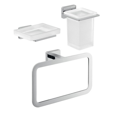 Three Piece Atena Bathroom Accessory Set