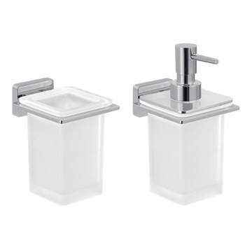 2 Piece Wall Mounted Bathroom Accessory Set