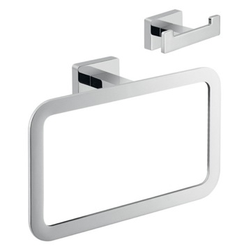 Chrome Atena Bathroom Accessory Set