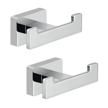 Chrome Bathroom Accessory Hook Set