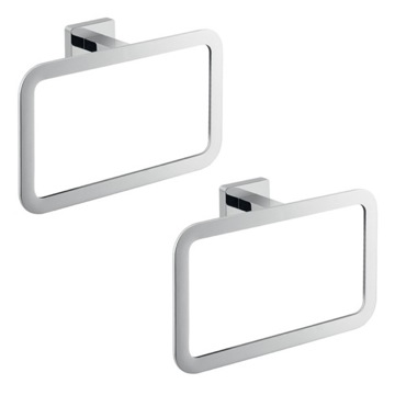 Two Piece Chrome Accessory Towel Ring Set