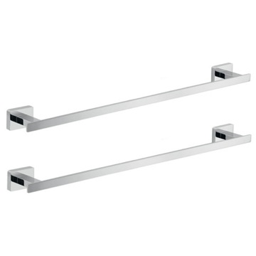 Wall Mounted Chrome Accessory Towel Bar Set