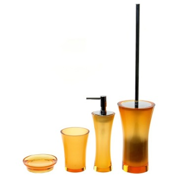 Orange Contemporary 4 Piece Bathroom Accessory Set