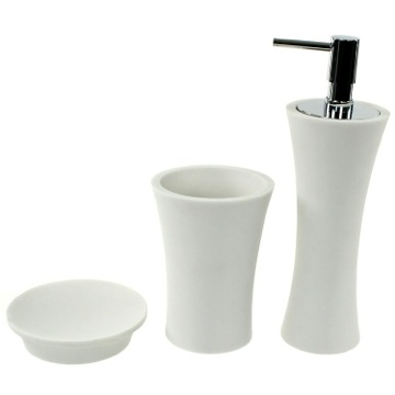 White 3 Piece Bathroom Accessory Set