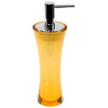 Free Standing Soap Dispenser Made From Thermoplastic Resins in Orange Finish