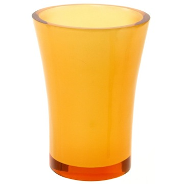 Round Toothbrush Holder Made From Thermoplastic Resins in Orange Finish