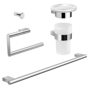 Complete Canarie Bathroom Accessory Set