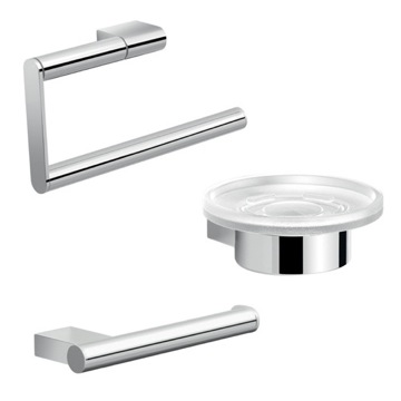 Chrome Canarie Bathroom Accessory Set