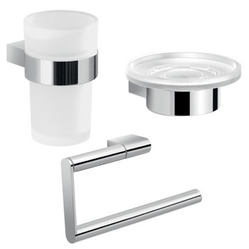 Three Piece Chrome Accessory Set