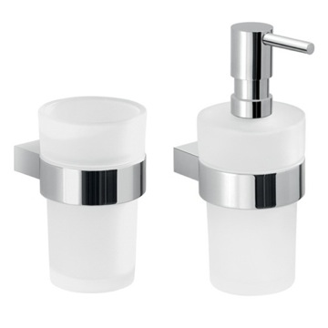 2 Piece Chrome Canarie Accessory Set