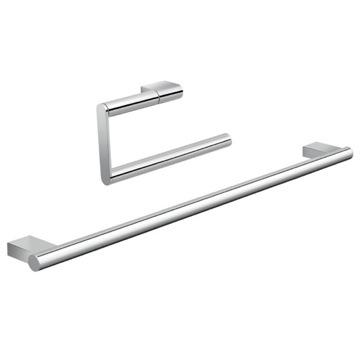 Two Piece Chrome Bathroom Accessory Set