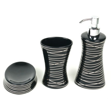 Diva Anthracite Silver Decorative Bathroom Accessory Set