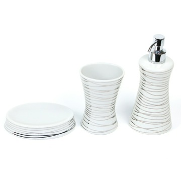 Diva Grey Silver Decorative Bathroom Accessory Set