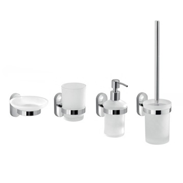 Four Piece Wall Mounted Accessory Set