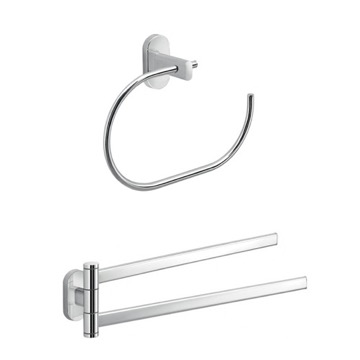Towel Ring And Swivel Towel Bar Set