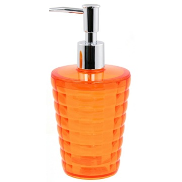 Round Orange Soap Dispenser