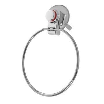 Towel Ring With Suction Cup Mounting and Chrome Finish