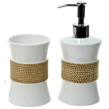 Bathroom Accessory Set Iris Pottery Bathroom Accessory Set In White IR500 Gedy IR500