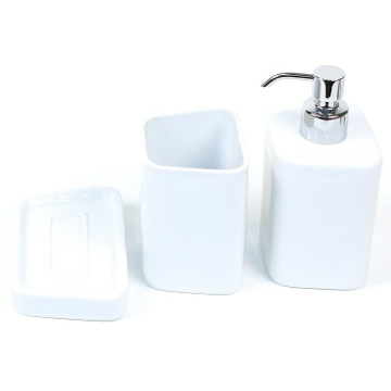 Bathroom Accessory Set White and Porcelain Bathroom Accessory Set JN200-02 Gedy JN200-02