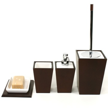 Kyoto Pottery And Tanganika Wood Accessory Set