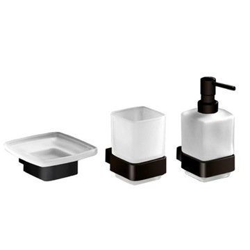3 Piece Wall Mounted Bathroom Accessory Set